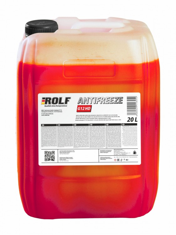 Антифриз ROLF Antifreeze G12 HD 20л