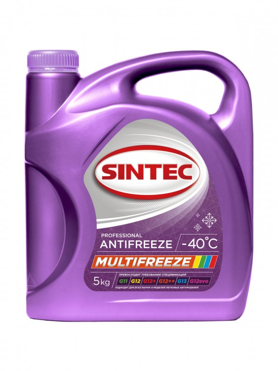 Антифриз Sintec ANTIFREEZE MULTI FREEZE 5кг