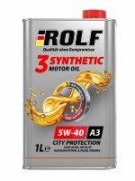 Масло моторное ROLF 3-synthetic 5W-40 ACEA A3/B4 1л